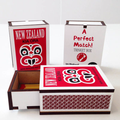 Match boxes by Ian Blackwell and Glenn Jones