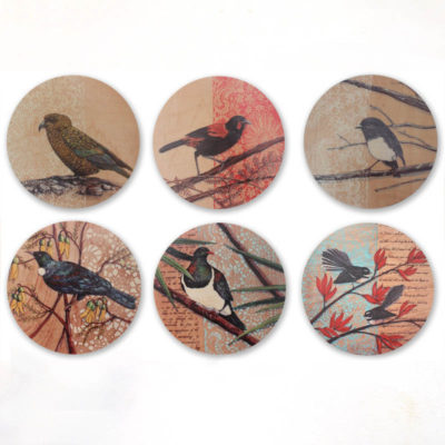 Bird prints on ply by Justine Hawksworth