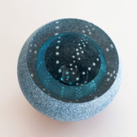 Glass Kina Geode by Rebecca Heap