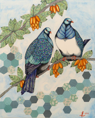 Kereru - original painting by Ana Lee Bergius