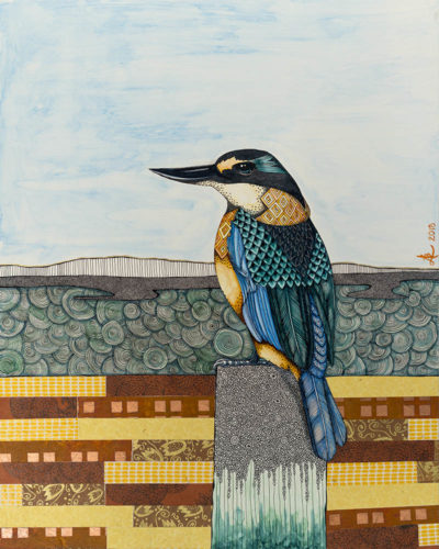 Kingfisher - original painting by Ana Lee Bergius
