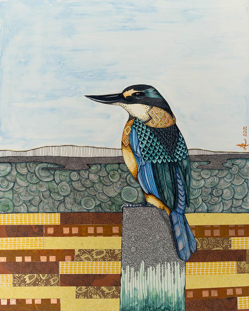 Kingfisher - original painting by Ana Lee Bergius