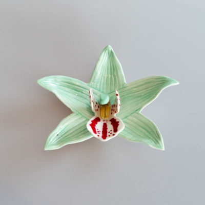 Ceramic wall flower by Bob Kay