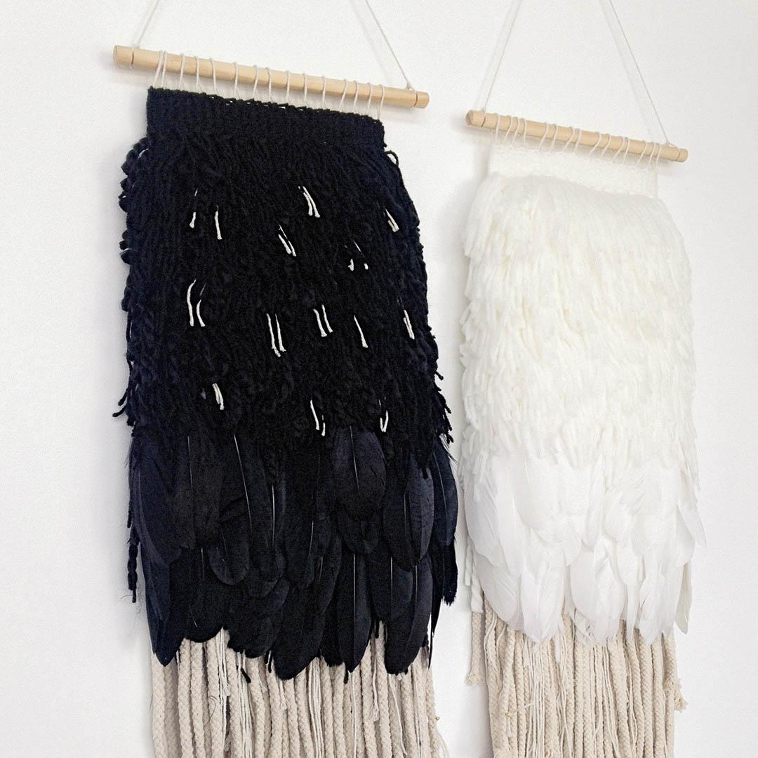 Blackbird and White Dove by Jodie Wilson